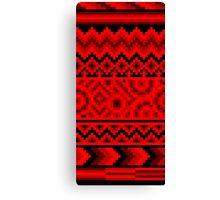 dark red pattern pixel Canvas Print