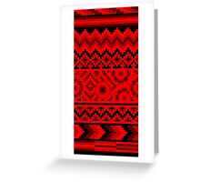 dark red pattern pixel Greeting Card