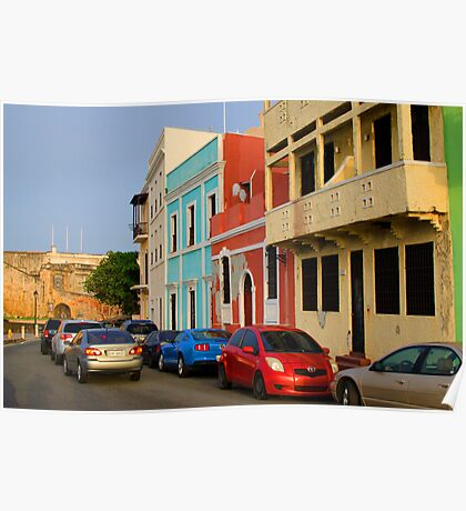 Calle, Old San Juan Poster