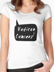 Vatican Cameos! (White text)  Women's Fitted Scoop T-Shirt