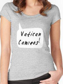 Vatican Cameos! (Black text)  Women's Fitted Scoop T-Shirt