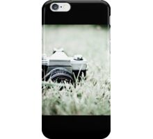 Between the blades of grass iPhone Case/Skin