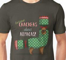 Christmas Crackers About Alpacas! Unisex T-Shirt