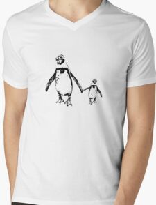 Penguins Mens V-Neck T-Shirt
