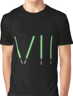 Star Wars The Force Awakens (Episode Seven) VII Green Lightsaber Graphic T-Shirt