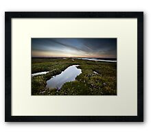 Salt Marsh Sunset Framed Print