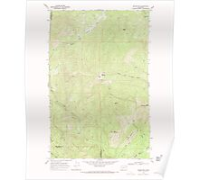 USGS Topo Map Washington State WA Boyer Mtn 240188 1968 24000 Poster