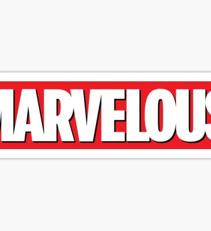MARVELous Sticker