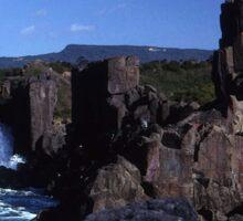 Rock Formations, Bombo Coastline, Australia Sticker