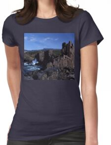 Rock Formations, Bombo Coastline, Australia Womens Fitted T-Shirt