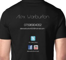 alex warburton music (back) Unisex T-Shirt