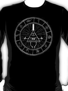 Gravity Falls Bill Cipher - White on Black T-Shirt