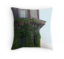 Ivy Covered Turret Throw Pillow