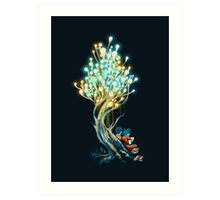 Electricitree Art Print