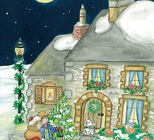 CHRISTMAS COTTAGE by Lynn Wright