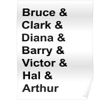 Justice League Names Poster