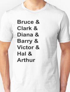 Justice League Names T-Shirt