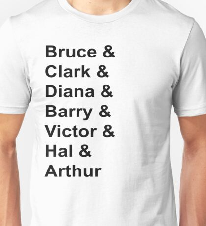 Justice League Names Unisex T-Shirt