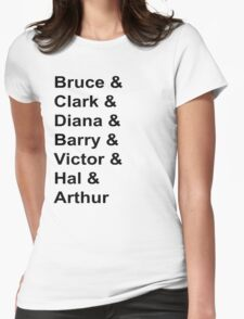 Justice League Names Womens Fitted T-Shirt