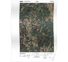 USGS Topo Map Washington State WA Menlo 20110406 TM Poster