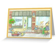 COFFEE HOUSE Greeting Card