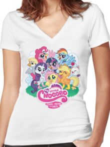 My Little Chocobo Women's Fitted V-Neck T-Shirt