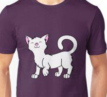 Happy White Kitten Unisex T-Shirt