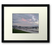 Calm Night On The Water Framed Print