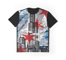 Chicago Flag Skyline Tower Graphic T-Shirt