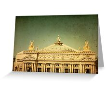 old-fashioned Paris Vintage Greeting Card