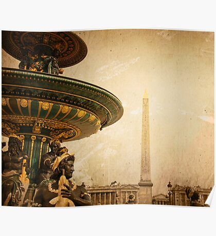 old-fashioned Paris Vintage Poster