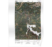 USGS Topo Map Washington State WA Eatonville 20110511 TM Poster