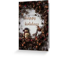 Happy Holidays! (with snowman) Greeting Card