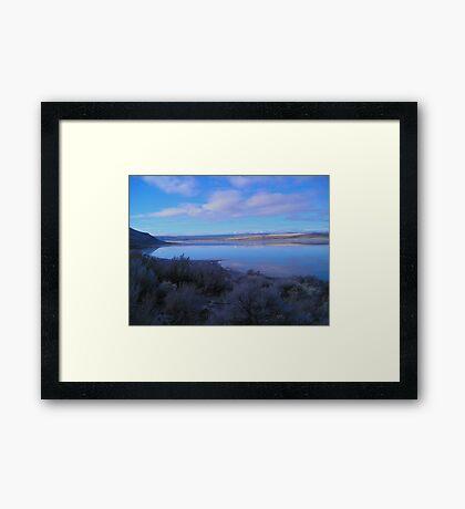 Landscape at Abert Rim, Oregon Framed Print