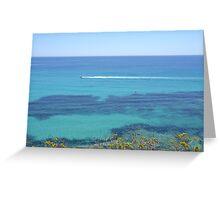 Speedboat making waves Greeting Card