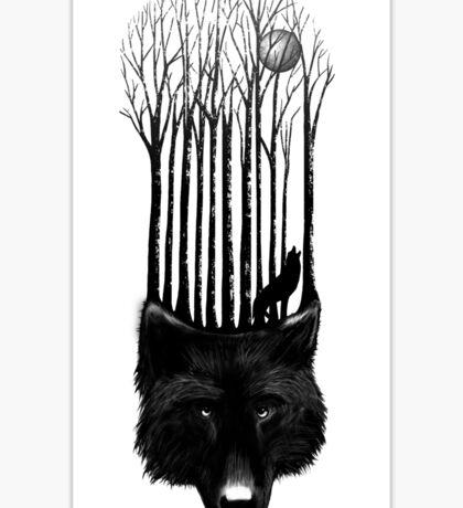 Wolf barcode Sticker