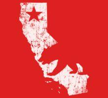 Vintage California State Outline Kids Tee