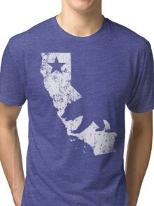 Vintage California State Outline Tri-blend T-Shirt