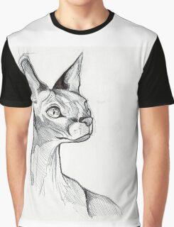 Sphynx Cat Graphic T-Shirt