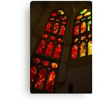 Glorious Reds and Yellows - Sagrada Familia Stained Glass Windows Canvas Print