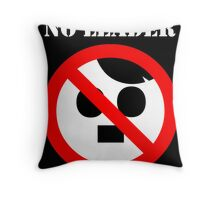 NO LEADER - black Throw Pillow