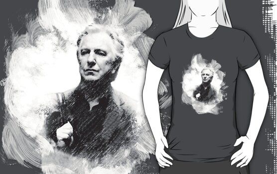 Alan Rickman Fan Design  by scatharis