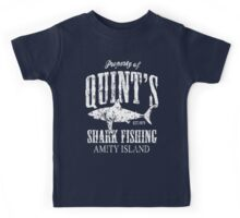 Quints Shark Fishing Amity Island Kids Tee