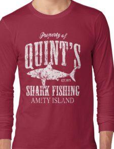 Quints Shark Fishing Amity Island Long Sleeve T-Shirt
