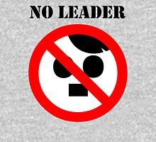 NO LEADER - with black script Unisex T-Shirt
