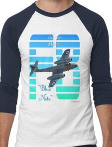 "Gloster Meteor F8 ""Blue Note"" T-shirt Design Men's Baseball ¾ T-Shirt"