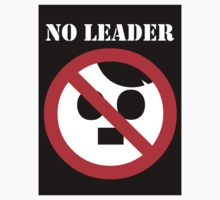 NO LEADER - black sticker by Bela-Manson