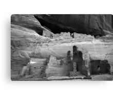 White House Ruin Monochrome Canvas Print