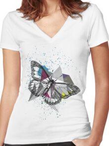 BorBoleTinha Women's Fitted V-Neck T-Shirt