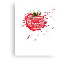 tomato splat Canvas Print
